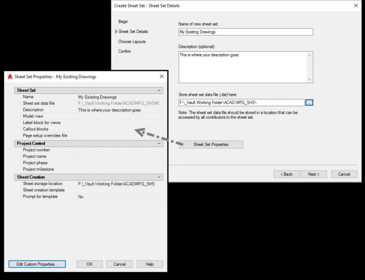 AutoCAD-Sheet-Set-New-Properties