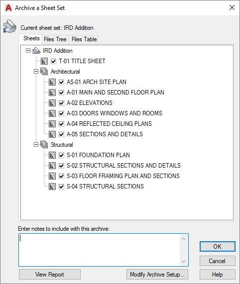 AutoCAD Sheet Sets Archive