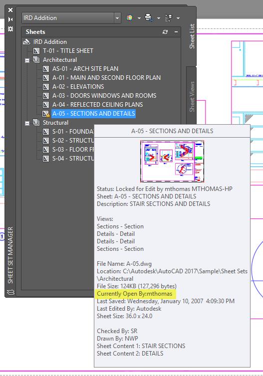 AutoCAD Sheet Sets Manager Sheet Properties