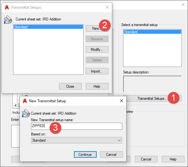 AutoCAD-Sheet-Sets-New Transmittal Setup