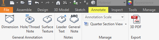 Inventor-Assembly-Annotate-Ribbon-Tab
