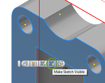 Inventor 2018.2- Make Sketch Visible