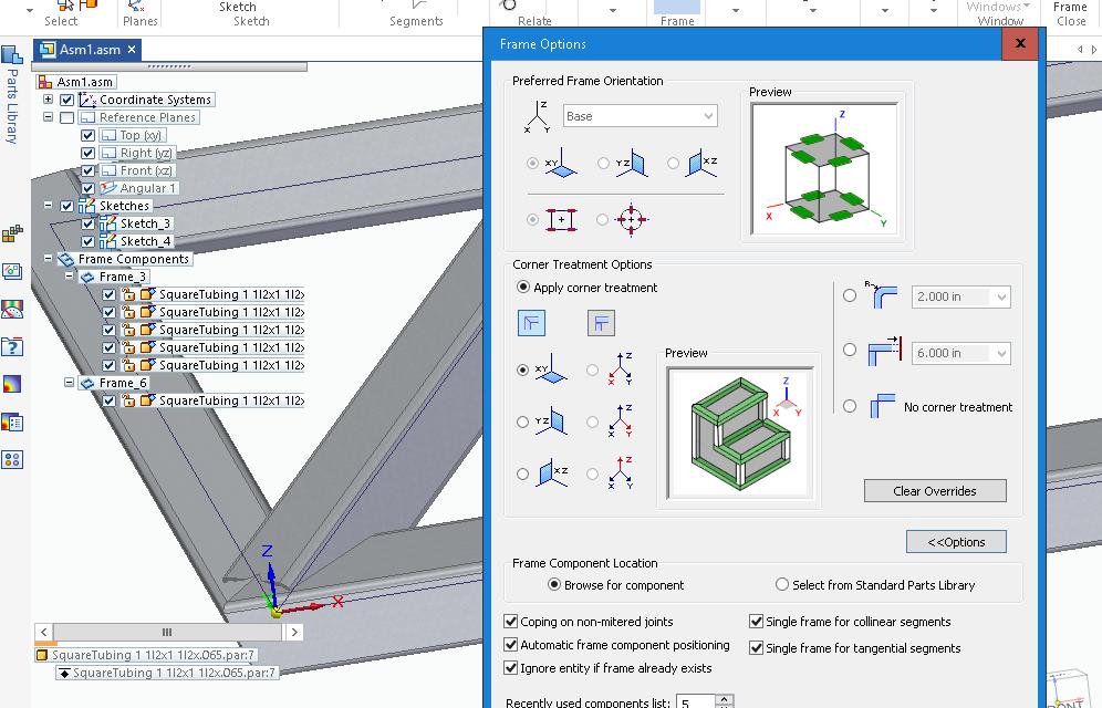 Solid Edge Frame Design for ST10 Part 2