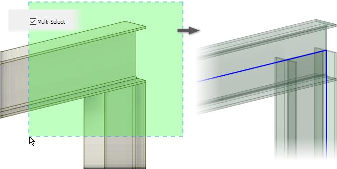 Inventor 2019.1 - Frame - Multi-select